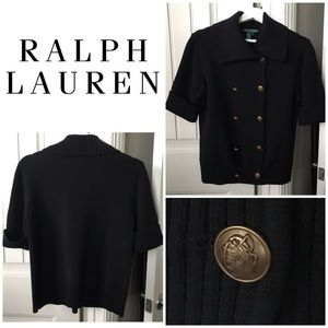 Ralph Lauren Double Breasted Knit Jacket Size M